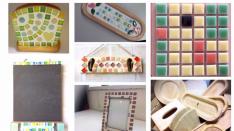 【8/1・24】「モザイクタイル自由工作」タイルアート色彩工房inくにきたべーす