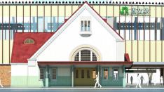 赤い三角屋根の「旧国立駅舎」2020年完成予定!