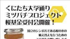 【9/8】くにたち大学通りミツバチプロジェクト 桜基金受付会
