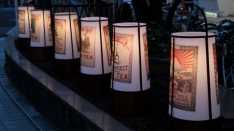 竹灯籠の灯りを楽しめます♪
